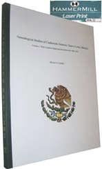 Eagleknight.com Genealogy books for sale:               Cadereyta Jimenez Baptism Book Library Edition